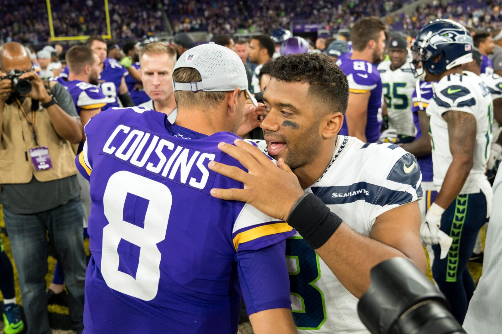 Kirk Cousins and Russell Wilson